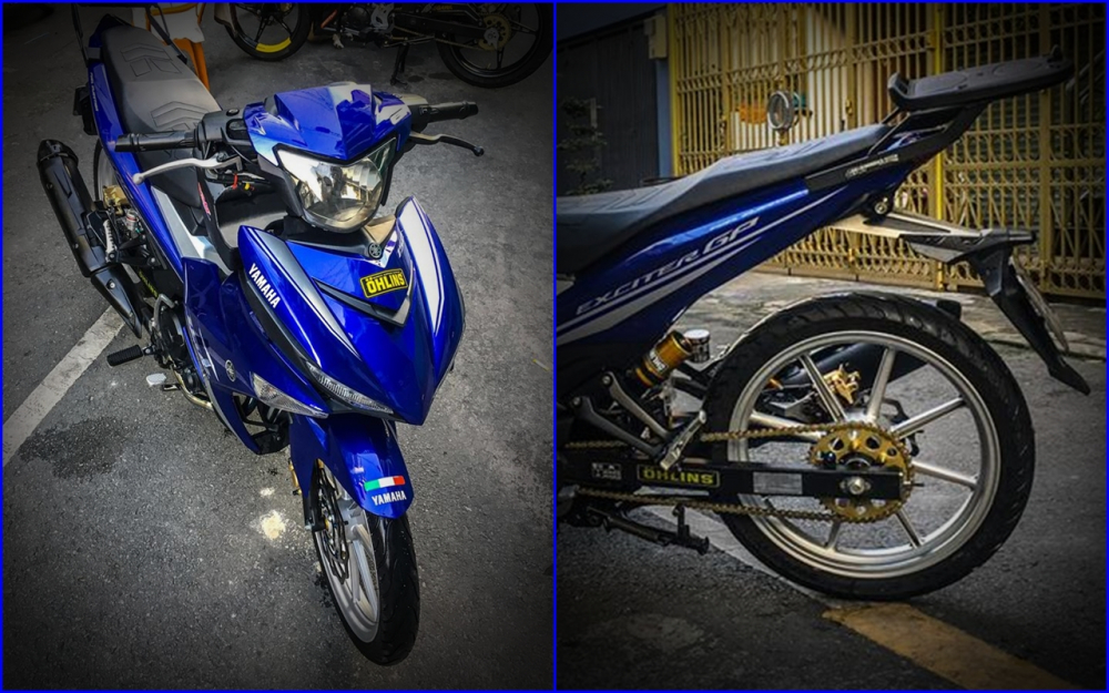 Yamaha Exciter 150 do mong manh voi doi chan giam can
