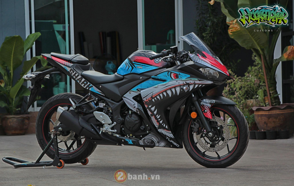 Yamaha R3 thoat xac day an tuong voi dien mao moi mang ten Angry Shark - 4