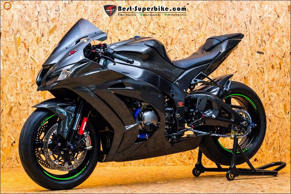 Kawasaki ZX10R ban do buc pha khong ty vet tu option Carbon Clever Wolf - 18