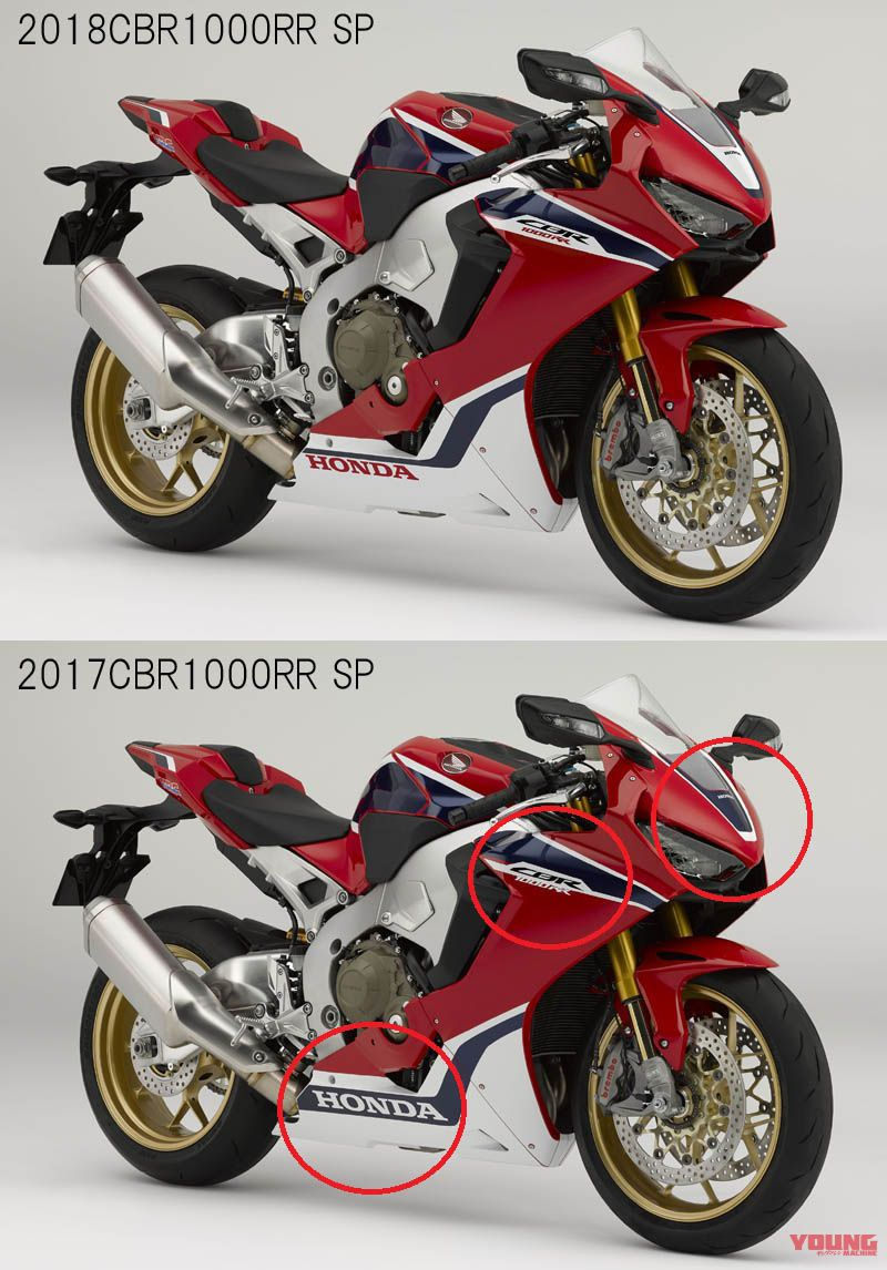 So sanh CBR1000RR 2018 va CBR1000RR 2017 Co gi moi - 3
