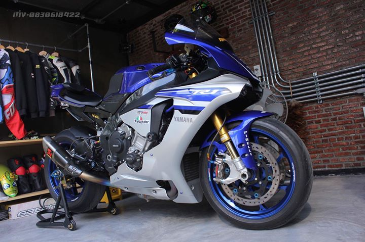 Yamaha R1 Superbike do khung full option tai xu Thai - 12