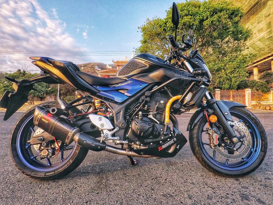 Ngam nhin Yamaha MT03 do full option tren dat Viet