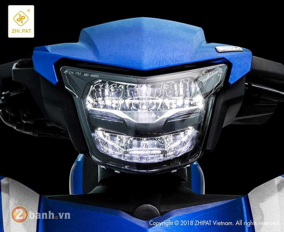 Den pha LED 2 tang Yamaha Exciter 150 Sporty 2019 moi