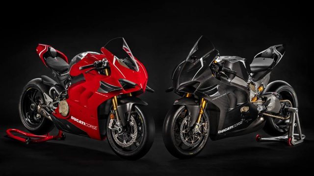 Ducati V4R Panigale 2019 ra mat voi bo canh Carbon dac trung moi