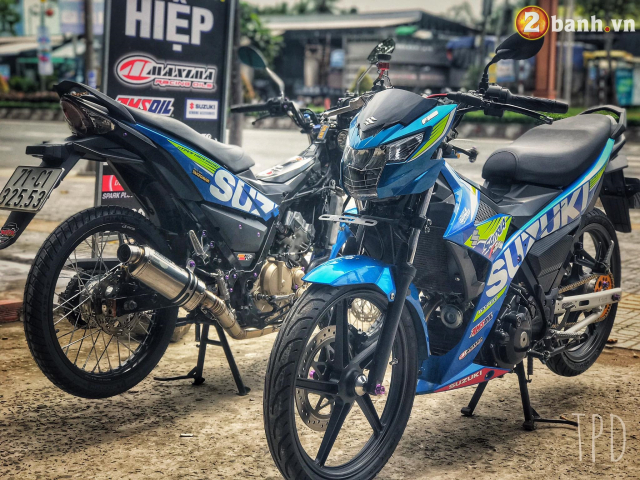 Satria F150 do option vu khi hang nang cua Biker Viet - 9