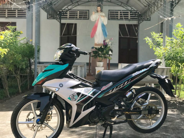 Exciter 150 do lung linh day an tuong voi dan chan bac - 6