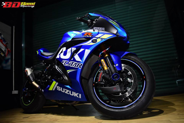 Suzuki GSXR1000 chan dung ban do chat choi den tu BD Speed Racing