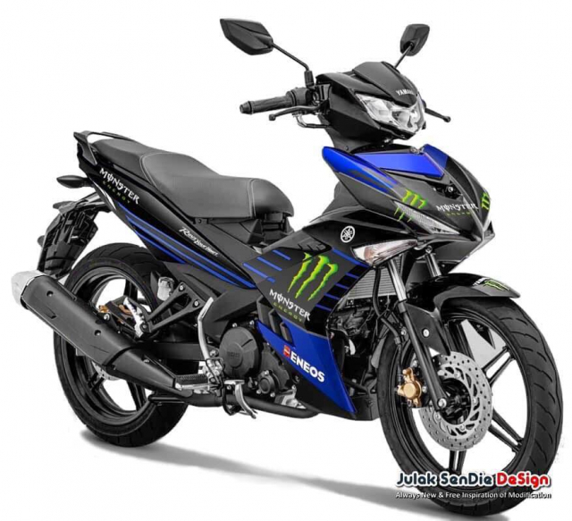 Freego 125 2019 xuat hien voi bo canh Monster Energy tai dai ly - 4