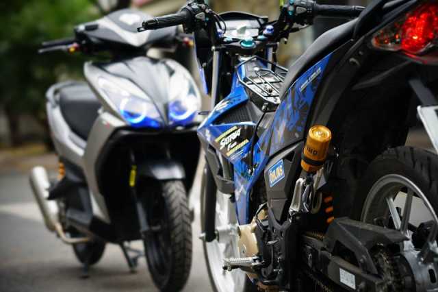 Satria 150 don full option voi hang loat do choi chat luong - 3
