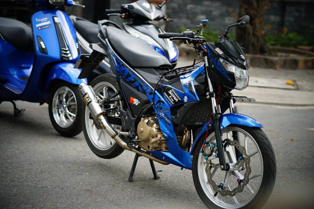 Satria 150 don full option voi hang loat do choi chat luong - 7