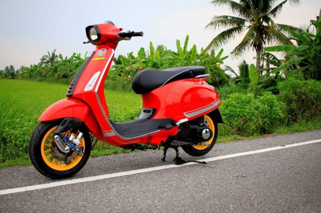 Ngam nhin dong Vespa Sprint do full option cuc lich lam - 13