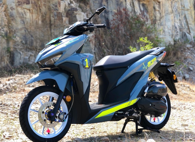 Vario 150 do PXL di kem gam mau moi do dang ben bong hong 9X - 9