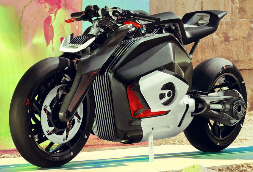 BMW Motorrad gay chan dong voi mau xe dien Vision DC Roadster - 4