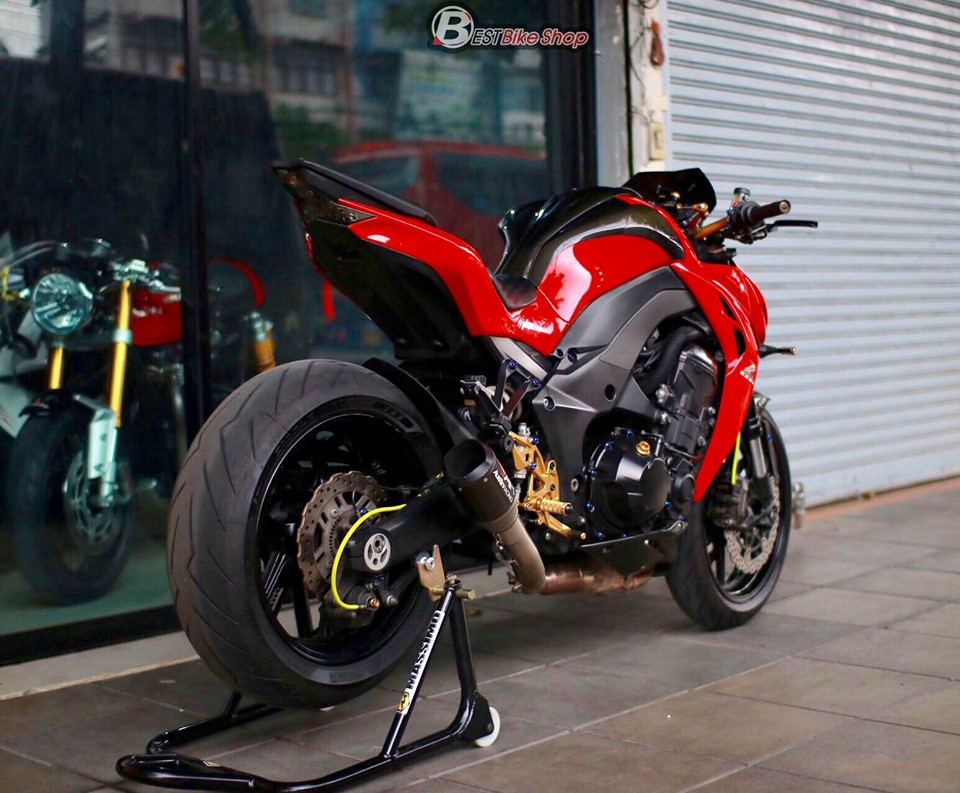 Kawasaki Z1000 do an tuong voi phong cach Do Sporty - 12