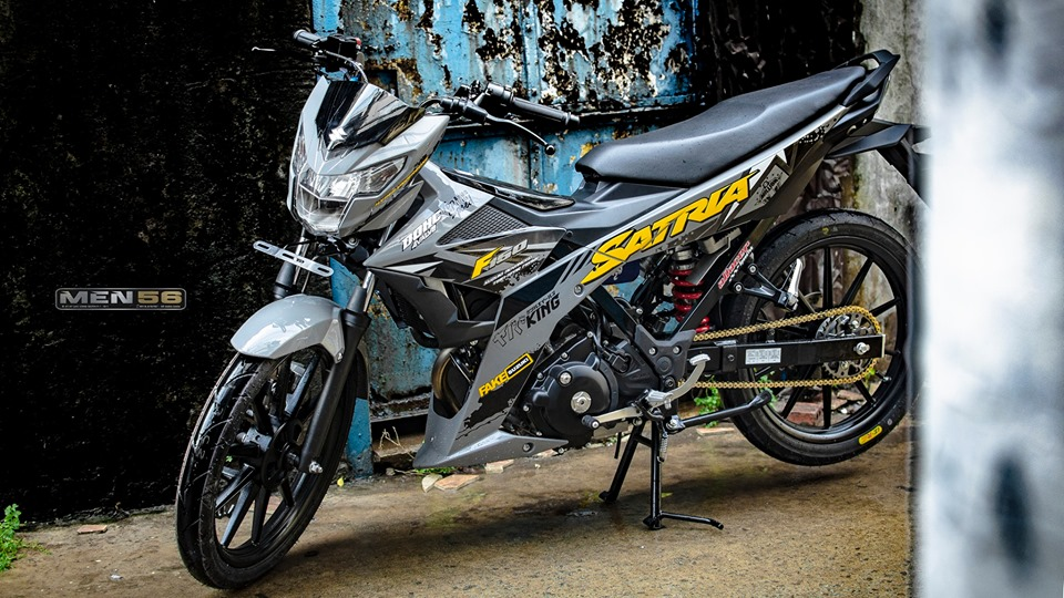 Satria 150 do cuc hot voi gam mau day moi la
