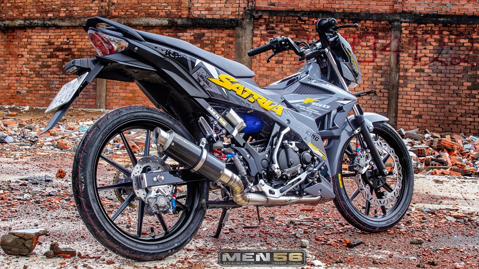 Satria 150 do cuc hot voi gam mau day moi la - 6