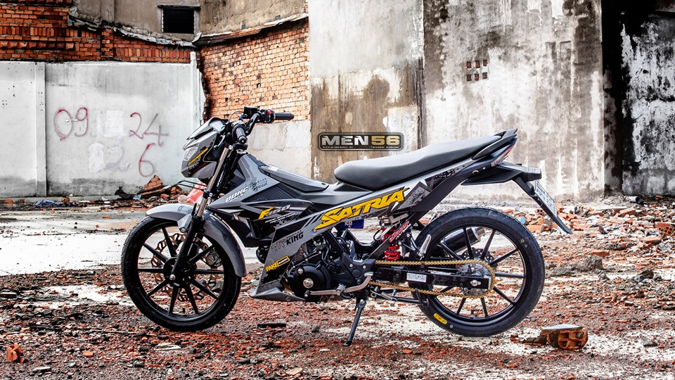 Satria 150 do cuc hot voi gam mau day moi la - 8