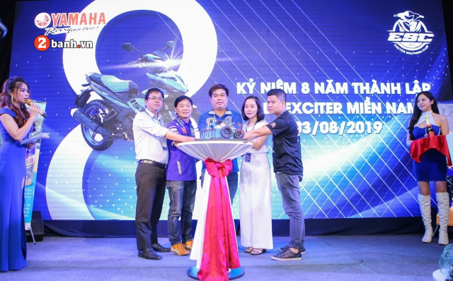 Yamaha Exciter Angels khuay dong cung CLB Exciter Mien Nam trong dai tiec lan 8