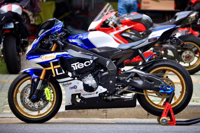 Yamaha R1 do sac so voi gam mau nong bong