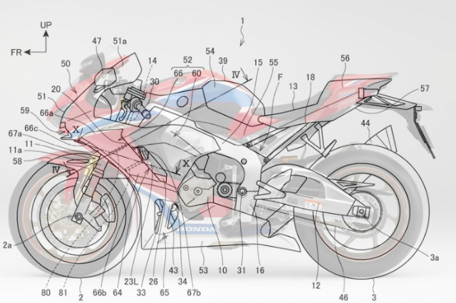 Honda CBR1000RR moi duoc tiet lo he thong Winglets dien tuy chinh tu dong