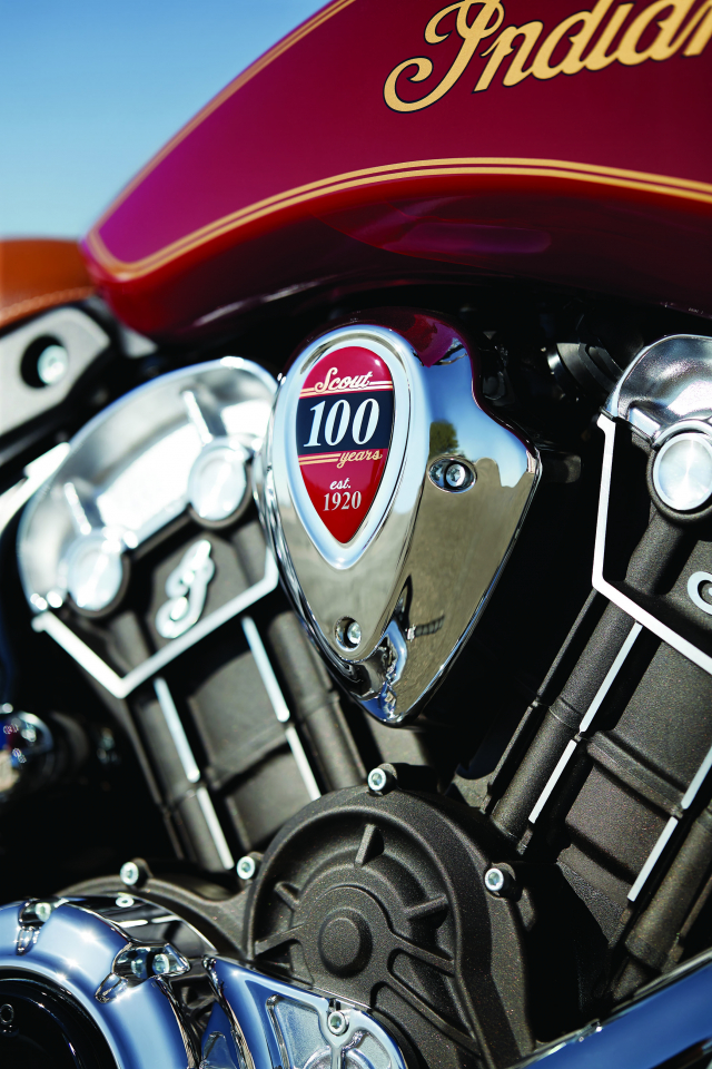 Indian tiet lo Scout Bobber Twenty va Scout 100th Anniversary moi voi ngoai hinh hoan hao - 11