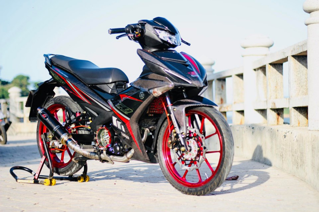 Exciter 150 do an tuong voi bo canh full Carbon dung nghia - 18