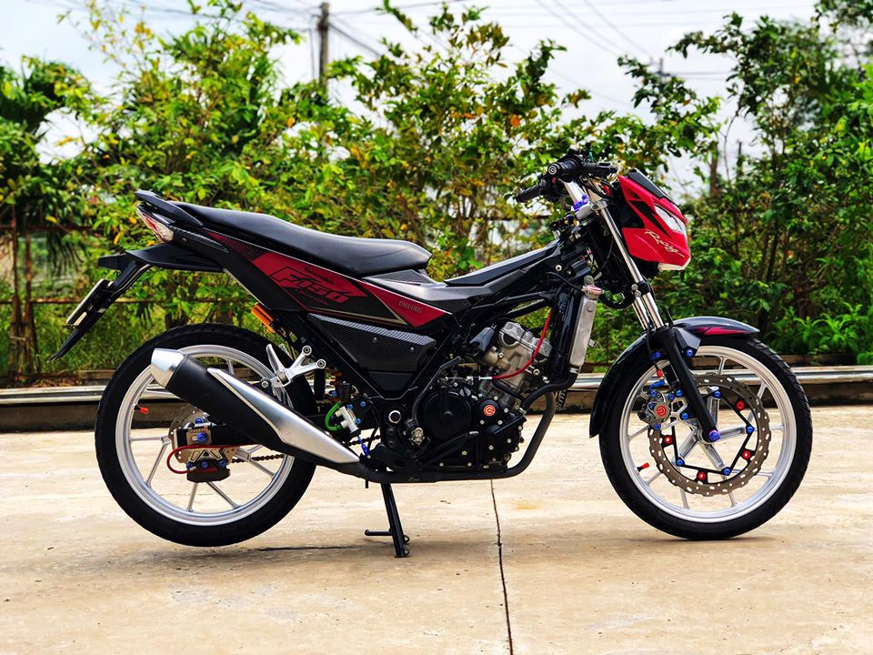 Satria 150 do giat gan voi ban do full option cuc chat - 8
