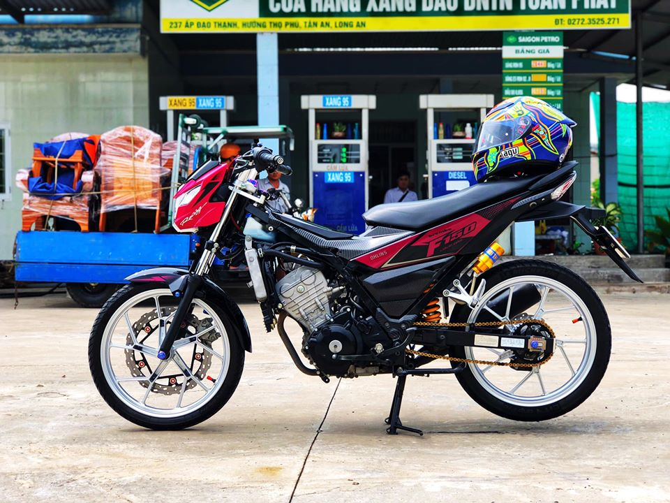 Satria 150 do giat gan voi ban do full option cuc chat