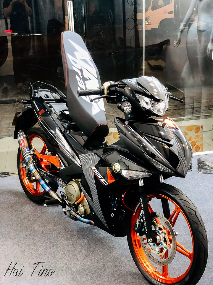 Exciter 150 do phong cach Sniper voi dan chan kich doc - 4