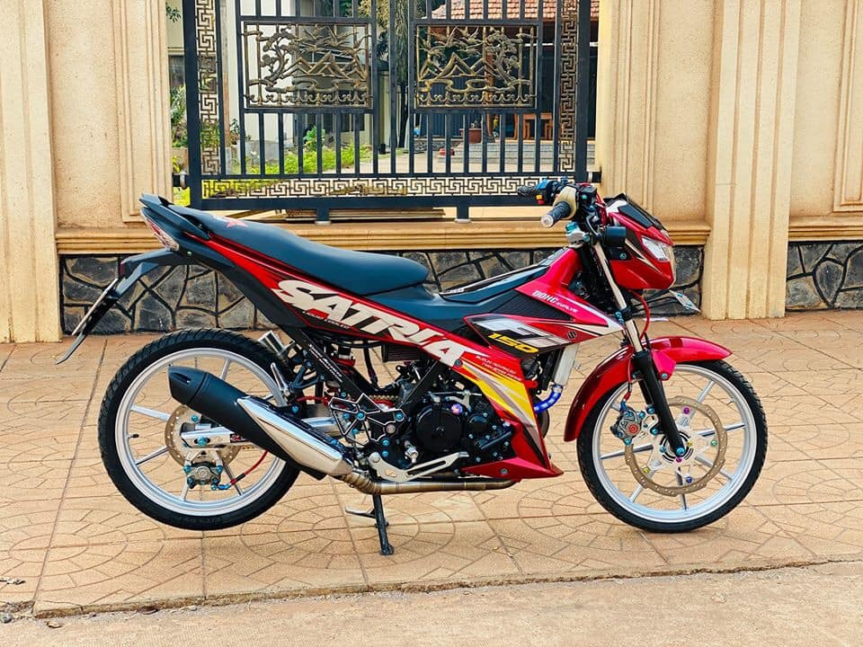 Satria 150 do cuc chat voi sac do don xuan cua biker Binh Phuoc - 11