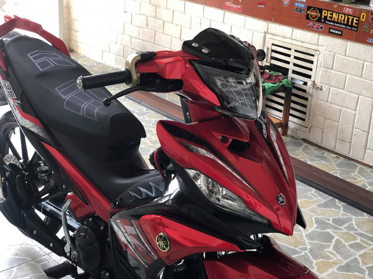 Exciter 135 cai trang thanh LC 135 voi dan chan chat luong - 3