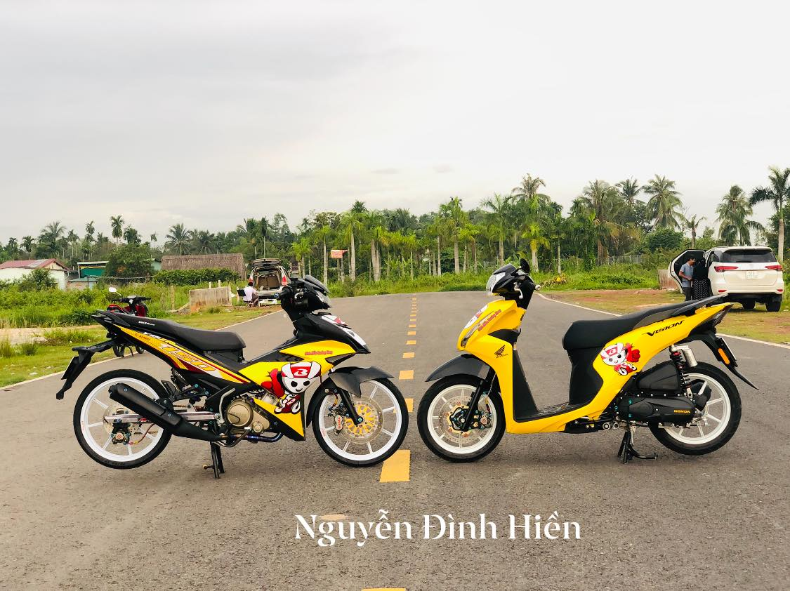 Exciter 150 do phong cach Racing Boy thu thiet - 11