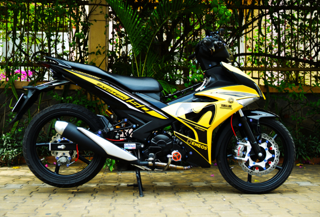 Ngam Exciter 150 do dan chan Brembo xin dung noc - 9