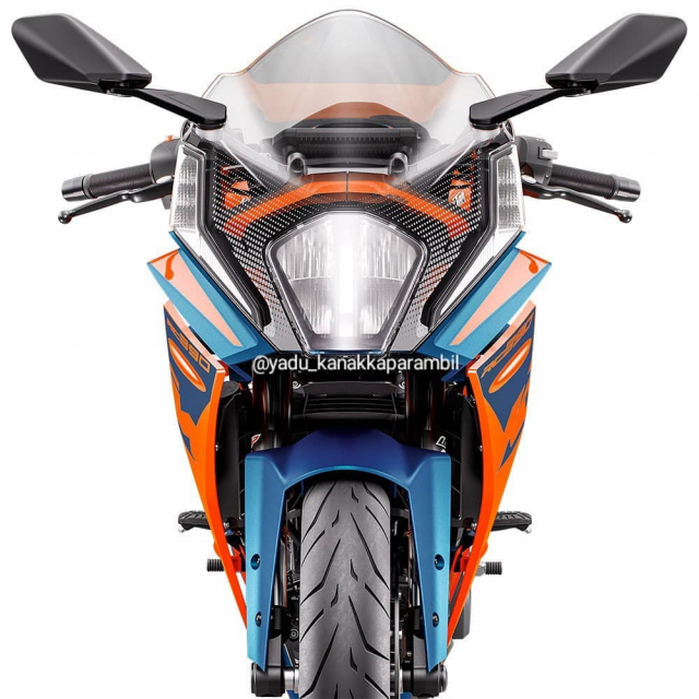 Chi tiet KTM RC 390 2022 lo dien gay nhieu that vong