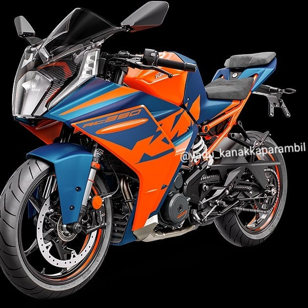 Chi tiet KTM RC 390 2022 lo dien gay nhieu that vong - 4